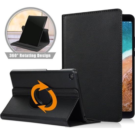 "E-TicaShop Samsung Galaxy Tab S6 Lite P610 P615 10.4"" Kılıf 360 Derece Dönebilen Kılıf Siyah"
