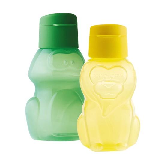 Tupperware Eko Şişe 2'li Set Sarı Aslan- Yeşil Kurbağa