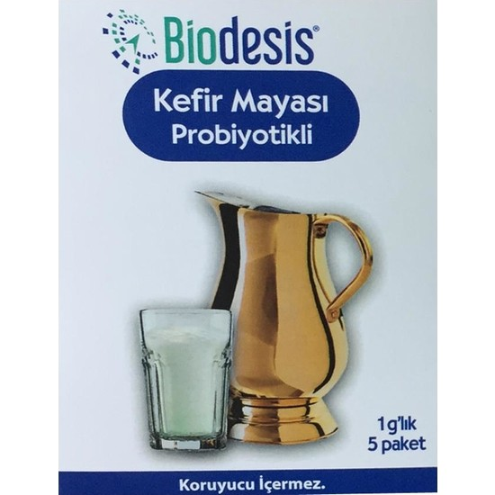 Biodesis 1 Gram 5'li Probiyotikli Kefir Mayası
