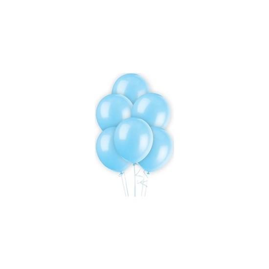 Acar Süs Açık Mavi Metalik 10'lu Balon