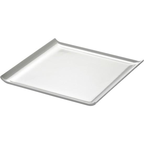 Biradlı Açık Büfe Pastane Sunum Tepsi 30 x 30 x 3 Cm.
