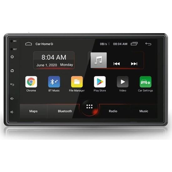 Bm Audio Universal Tip Android 8.0 Double Teyp 7inç Amfi + Sub Çıkışlı + Geri Görüş Kamerası