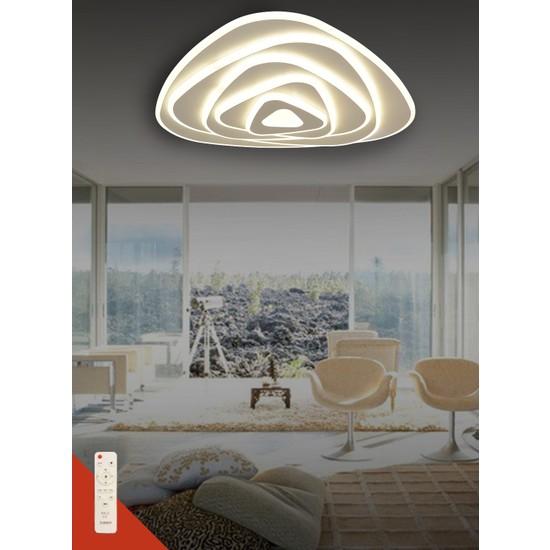 Luna Lighting Dımmer Ayarlanabilir Işık 3 Renk Kumandalı Modern LED Avize Plafonyer