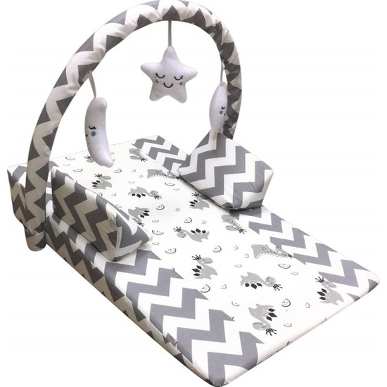 Pierre Cardin Oyuncaklı Bebek Reflü Yastığı - Gri
