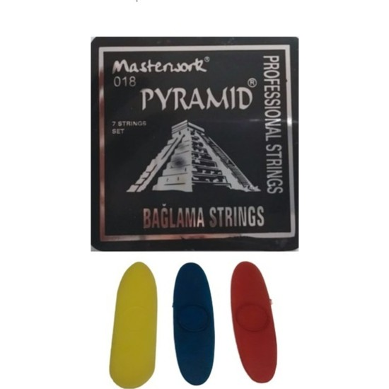 Pyramid 0.18 Kısa Sap Bağlama Teli Mızrap ( Tezene ) Hediye