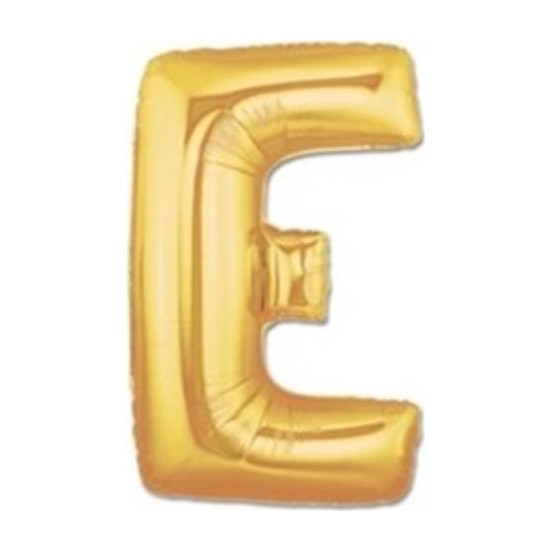 Acar Süs Altın Renk E Harfi Folyo Balon 16 İnç 40 cm