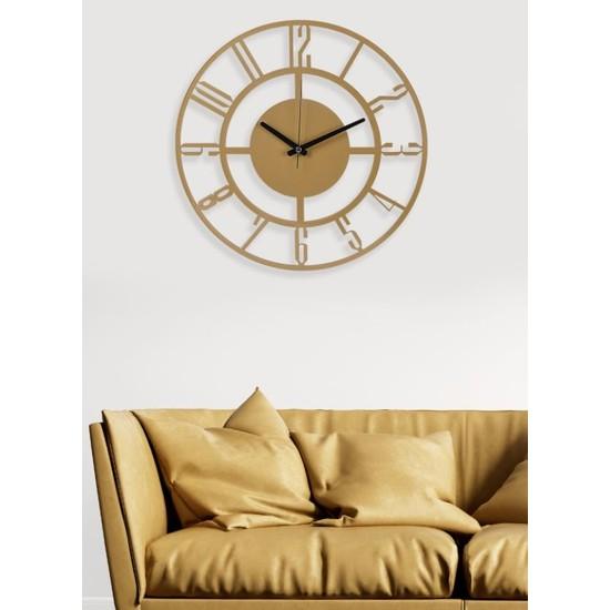 Muyika Design Muyika Bunnela Gold/eskitme Rengi Metal Duvar Saati 41X41CM