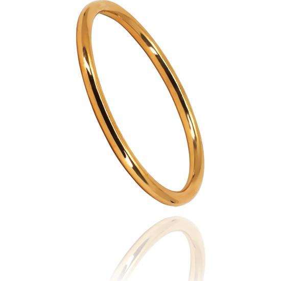Zerez Gold Sade ,klasik Altın Yüzük