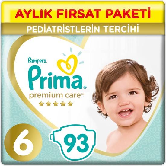Prima Bebek Bezi Premium Care 6 Beden 93 Adet Ekstra Large Aylık Fırsat Paketi