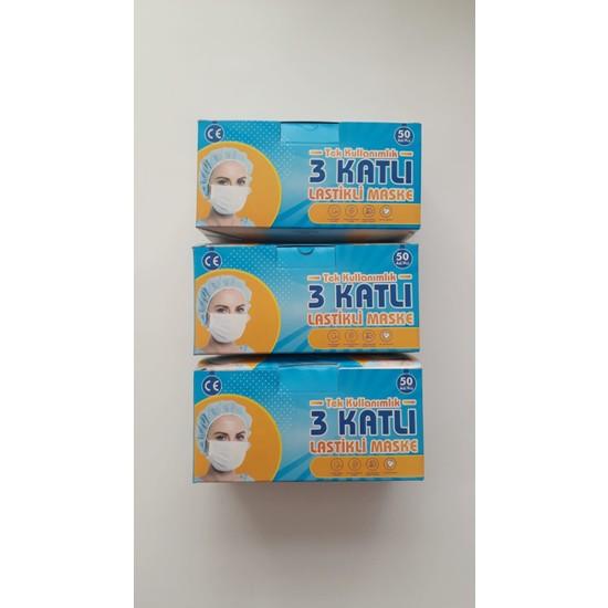 Afm 3 Katlı Tek Kullanımlık Telli Maske 3 Kutu 3X50 =150 Adet