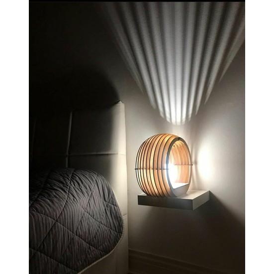 Woodie Dekoratif Masa ve Gece Lambası