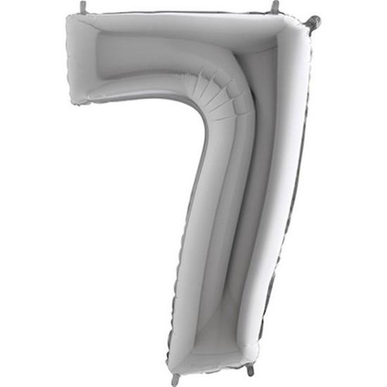 Acar Süs Gümüş Renk 7 Rakamı Folyo BALON(16INÇ) 40 cm