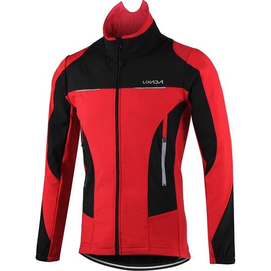 Lixada Erkek Açık Bisiklet Ceket Kış Termal Nefes Alabilir