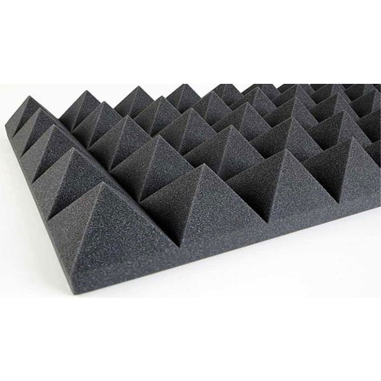 Desibel Akustik Alev Yürütmez Piramit Sünger 100cm x 100cm 40mm 26 DNS
