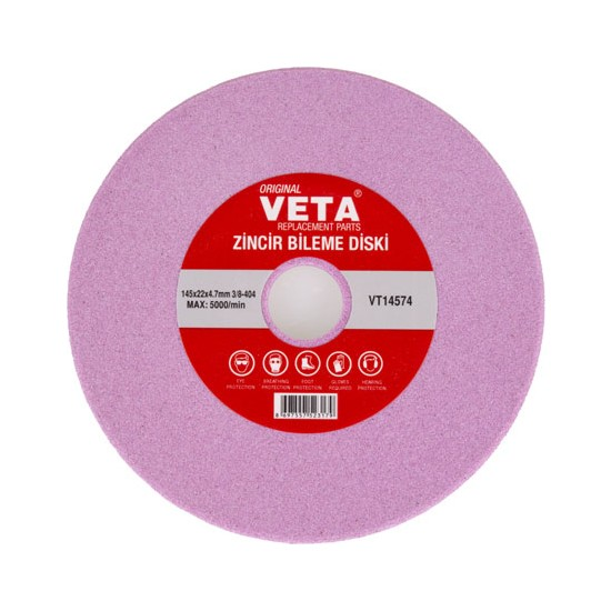 Zincir Bileme Diski 145X22X4.7MM 3/8-404 Veta