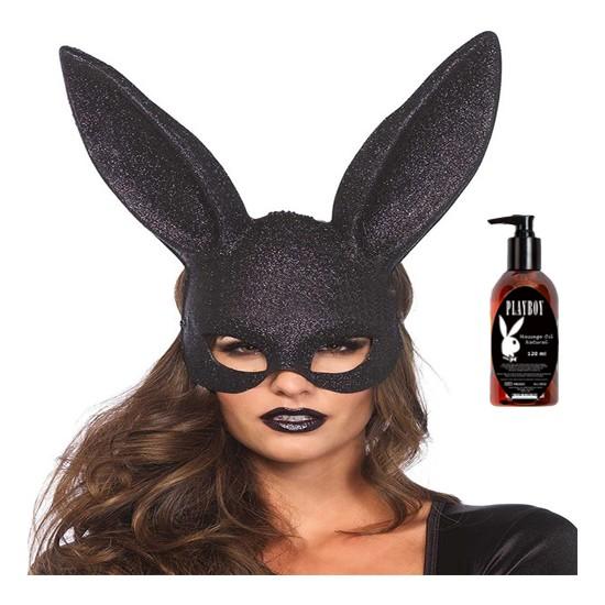Leg Avenue Tavşan Kız Maskesi ve Playboy Masaj Yağı