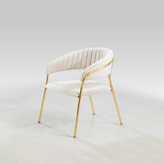 Mapka Home Gold Metal Ayaklı Sandalye