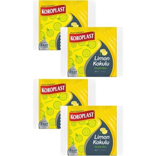Koroplast Limon Kokulu Mutfak Bezi 3'lü x 4