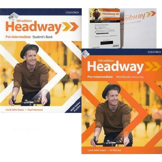 Headway 5th Edition Pre-Intermediate Student's Book With Online Practice + Workbook Without Key