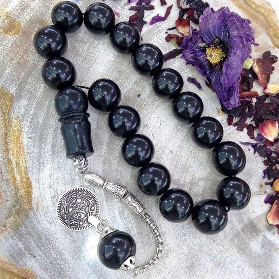 Eysell Jewellery Oltu Taşı 17 Lik Tesbih