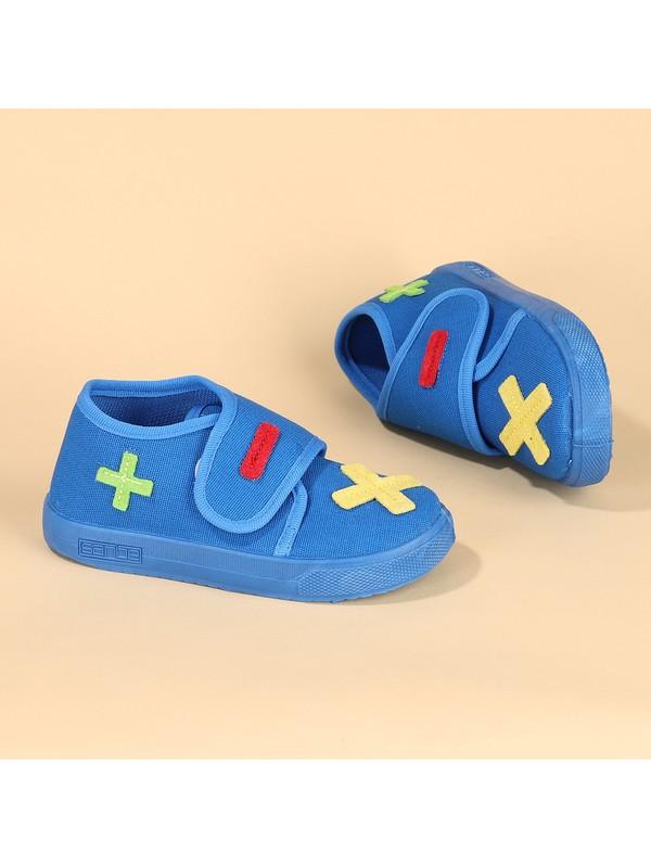 Sanbe 106S112 Okul Kreş Kız/Erkek Çocuk Panduf Ayakkabı Mavi