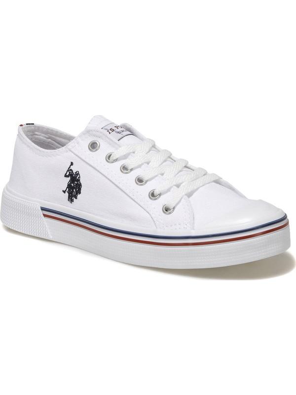 U.s. Polo Assn. Penelope 1fx Beyaz Kadın Havuz Taban Sneaker