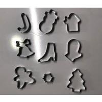 Mpc Metal Kopat Kurabiye Kalıbı Yılbaşı Seti
