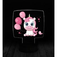 eJOYA Modern Desenli 3 Boyutlu 3D Led Gece Lambası 90230
