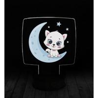 eJOYA Modern Desenli 3 Boyutlu 3D Led Gece Lambası 90227