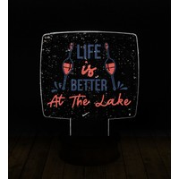 eJOYA Modern Desenli 3 Boyutlu 3D Led Gece Lambası 90210