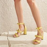 Butigo Simpson51Z Cilt Sarı Kadın Sandalet