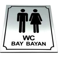 Se-Dizayn Wc Tuvalet Tabelası Bay Bayan, Yönlendirme Levhası 10 cm x 12 cm