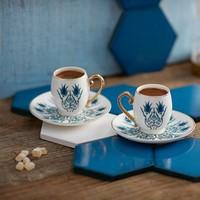 Karaca İznik 2 Kişilik Kahve Fincan Takımı