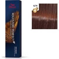 Wella Koleston Perfect Me+ Boya 60 ml 6/74 Kahverengimsi Kırmızı