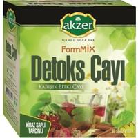 2 Adet Akzer Dt-X Kiraz Saplı Tarçınlı Karışık Bitki Çayı 120 Süzen Poşet