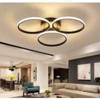 Burenze A+ Modern Plafonyer Power LED Avize Kademeli 3 Renk Koyu Kahve BURENZE670