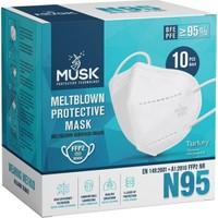 Musk Ffp2 N95 Maske Meltblowlu - 10 Adet