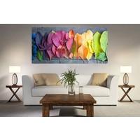 Syronix Renk Renk Yapraklar Kanvas Tablo