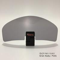 Gp Kompozit Rüzgar Saptırıcı (Deflektör) Füme Universal GP201 - Siyah