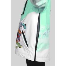 1. Kalite Su Geçirmez Yeşil Unisex Kız Çocuk Snowboard ve Kayak Montu