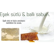 Naturel Eşek Sütü Ballı Sabun 120 Gram El Yapımı Gliserinli