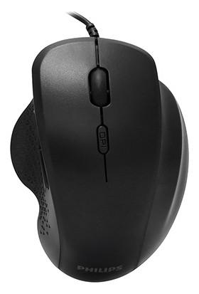 Philips SPK7444 USB Siyah 6 Tuşlu 3200DPI Optik Mouse Gaming Mouse