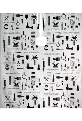GÜRBEY PAZARLAMA Tek Kullanımlık Berber ve Kuaför Kesim Önlüğü-Penuar 100 x 140 cm x 50 Adet Desenli