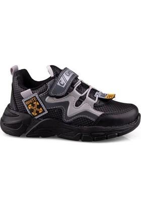 Carby Erkek Çocuk Siyah Gri Spor Ayakkabı 2004-1