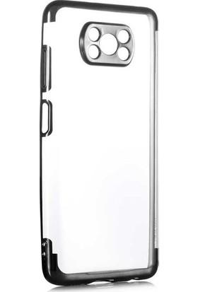 Aksesuarkolic Xiaomi Poco X3 Nfc Kılıf Lüks Kamera Korumalı Lazer Silikon + Nano Ekran Koruyucu