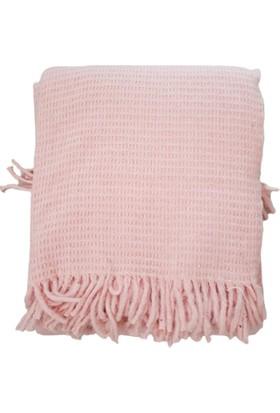 Fluffy Soft Çift Kişilik Pudra Battaniye