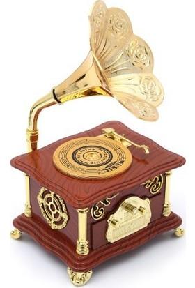 Fbz Home Gramafon Şeklinde Büyük Boy Nostaljik Müzik Kutusu
