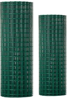 Güzelce Yapı Çit - Kafes - Kümes Teli Yükseklik 100 cm 12X12 mm Pvc Kaplı Yeşil 25 M