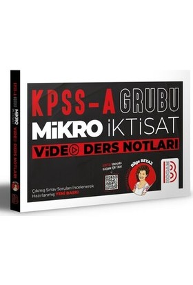Benim Hocam Yayınları KPSS A Mikro İktisat Video Ders Notları - Bilge Beyaz