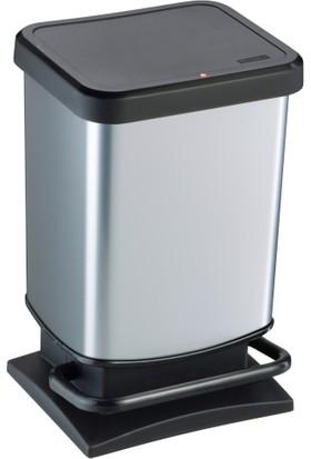 Rotho Paso Pedallı Çöp Kutusu 20 lt. Metalik Gri